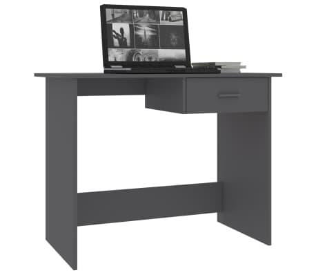 "vidaXL Desk Gray 39.4""x19.7""x29.9"" Chipboard[3/6]"