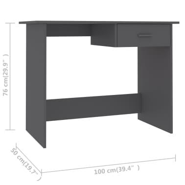 "vidaXL Desk Gray 39.4""x19.7""x29.9"" Chipboard[6/6]"