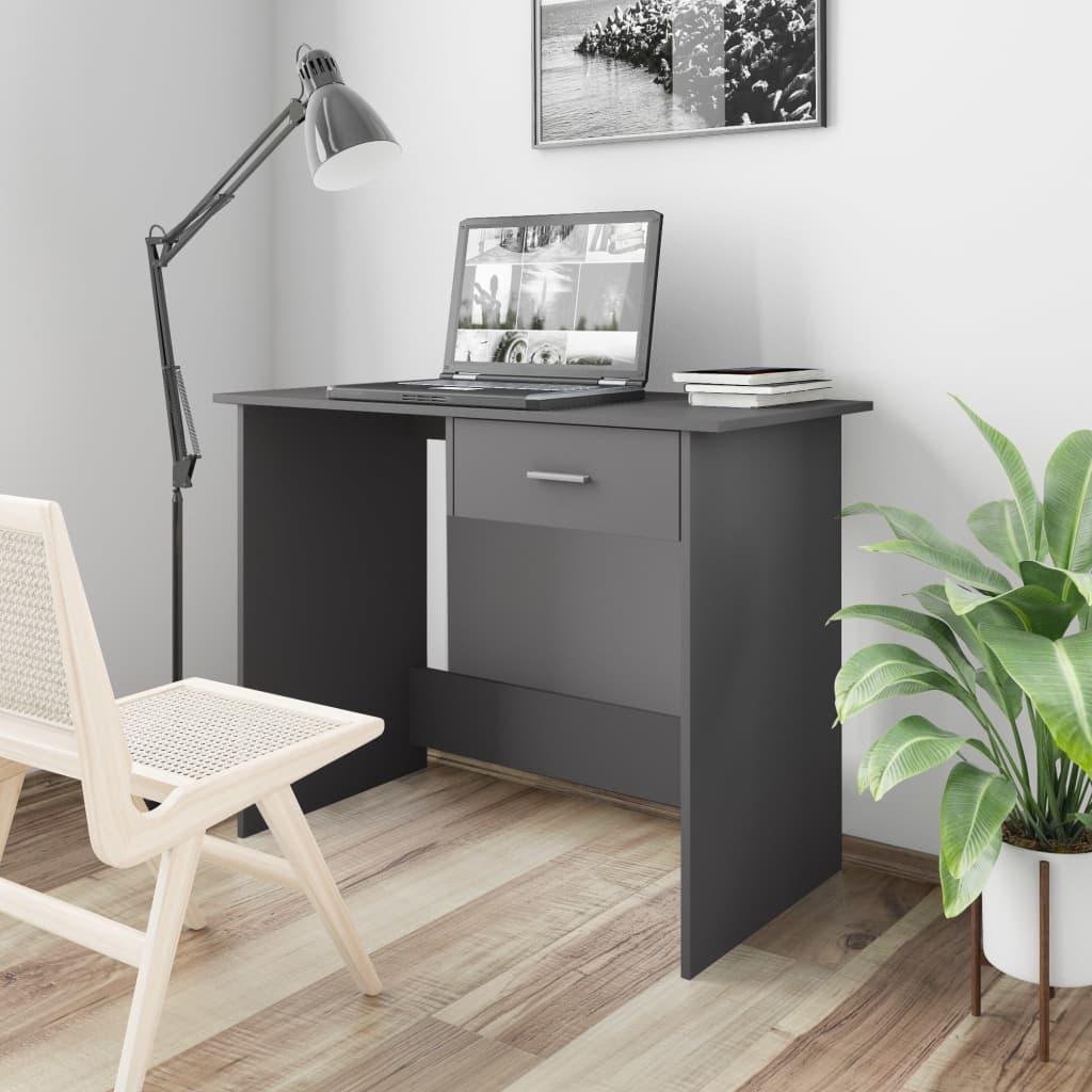 Psací stůl šedý 100 x 50 x 76 cm dřevotříska