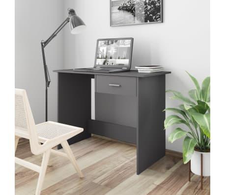 "vidaXL Desk Gray 39.4""x19.7""x29.9"" Chipboard[1/6]"