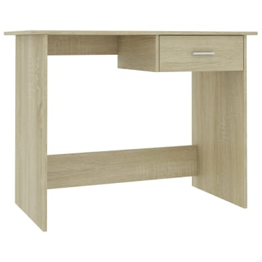 "vidaXL Desk Sonoma Oak 39.4""x19.7""x29.9"" Chipboard[2/6]"