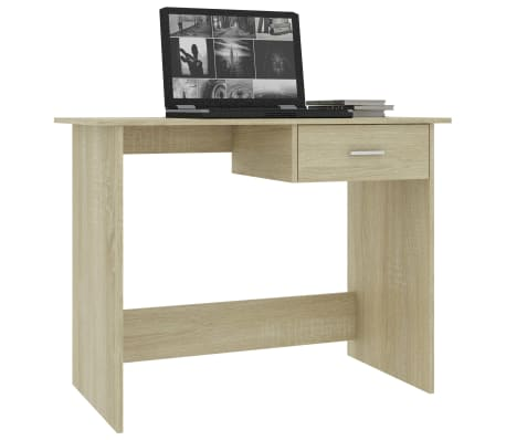 "vidaXL Desk Sonoma Oak 39.4""x19.7""x29.9"" Chipboard[3/6]"