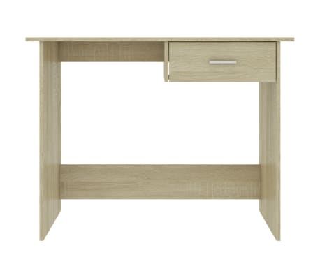 "vidaXL Desk Sonoma Oak 39.4""x19.7""x29.9"" Chipboard[4/6]"
