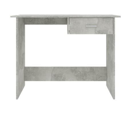 "vidaXL Desk Concrete Gray 39.4""x19.7""x29.9"" Chipboard[4/6]"