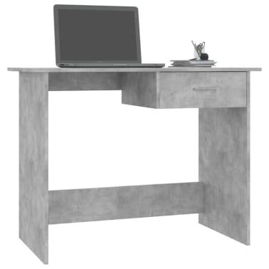 "vidaXL Desk Concrete Gray 39.4""x19.7""x29.9"" Chipboard[3/6]"