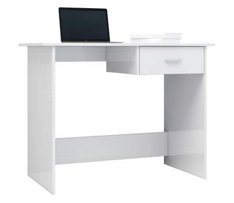 vidaXL Desk High Gloss White 100x50x76 cm Chipboard[3/6]