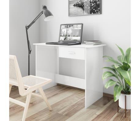 vidaXL Desk High Gloss White 100x50x76 cm Chipboard[1/6]