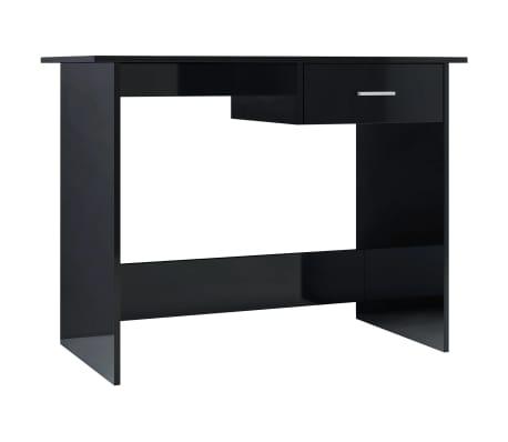 vidaXL Birou, negru foarte lucios, 100 x 50 x 76 cm, PAL