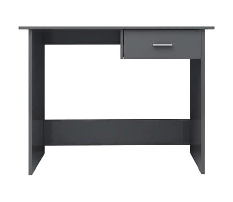 vidaXL Desk High Gloss Grey 100x50x76 cm Chipboard[4/6]