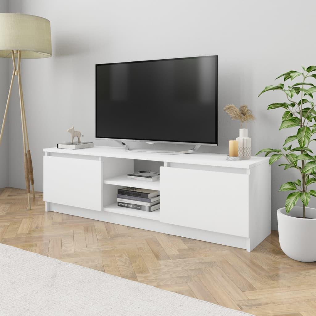 vidaXL Szafka pod TV, biała, 120 x 30 x 35,5 cm, płyta wiórowa