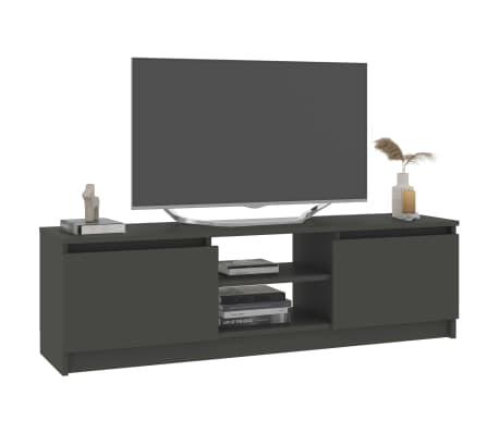 "vidaXL TV Cabinet Gray 47.2""x11.8""x13.9"" Chipboard[3/6]"