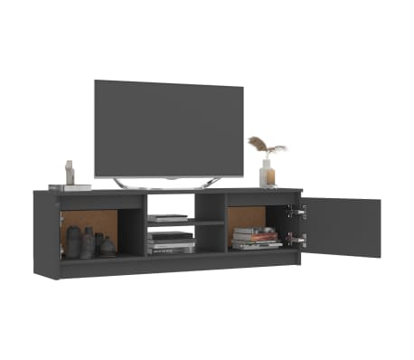 "vidaXL TV Cabinet Gray 47.2""x11.8""x13.9"" Chipboard[4/6]"