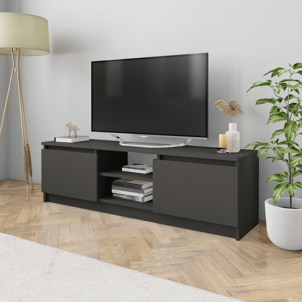 vidaXL Szafka pod TV, szara, 120 x 30 x 35,5 cm, płyta wiórowa