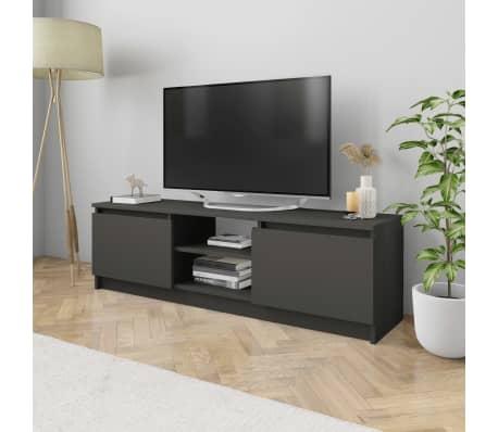 "vidaXL TV Cabinet Gray 47.2""x11.8""x13.9"" Chipboard[1/6]"