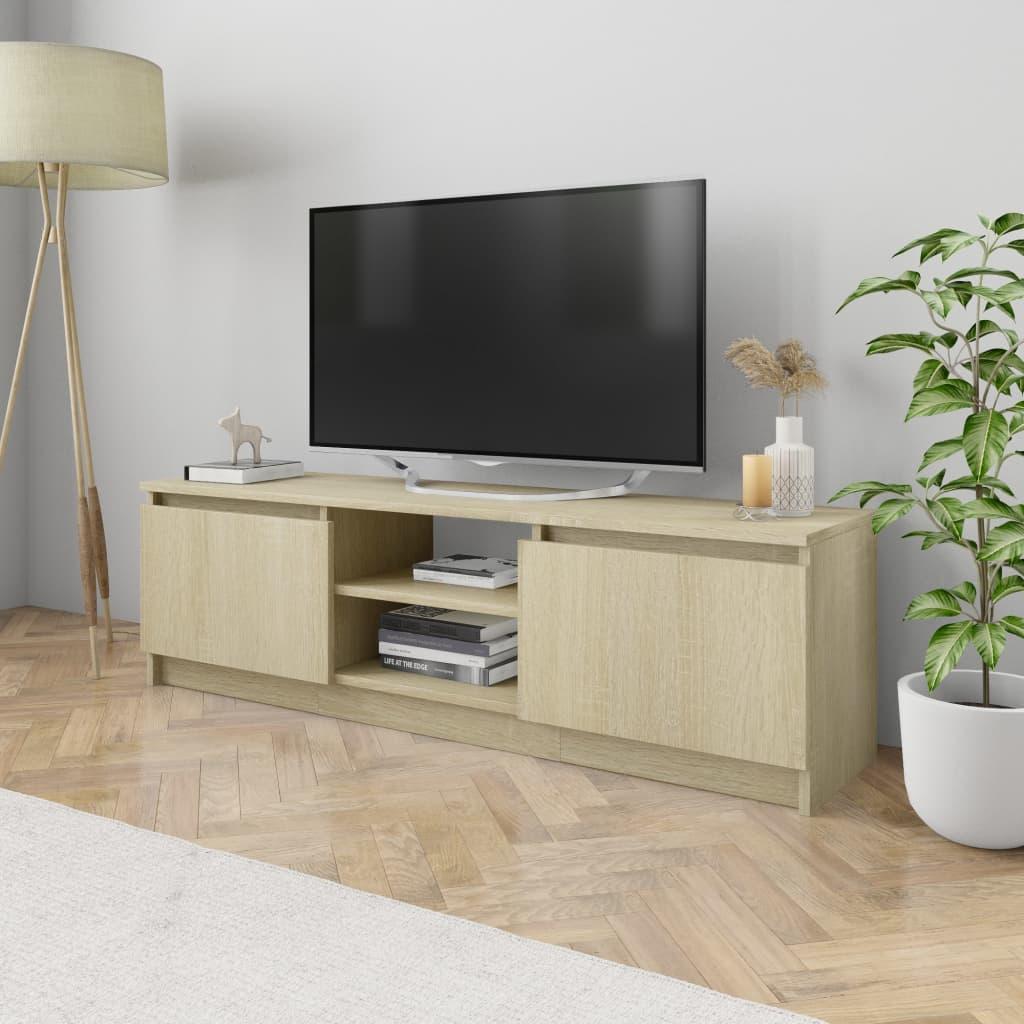 vidaXL TV stolek dub sonoma 120 x 30 x 35,5 cm dřevotříska