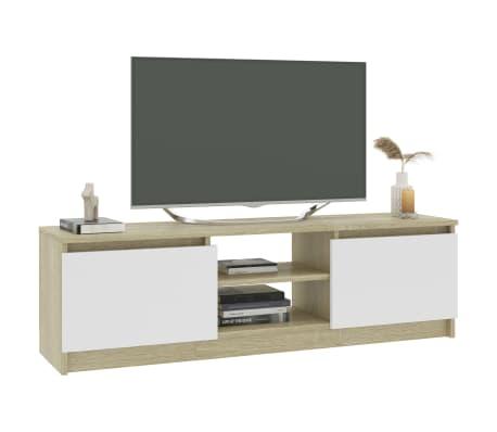 "vidaXL TV Cabinet Concrete Gray 47.2""x11.8""x13.9"" Chipboard[3/6]"