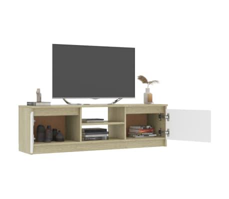 "vidaXL TV Cabinet Concrete Gray 47.2""x11.8""x13.9"" Chipboard[4/6]"