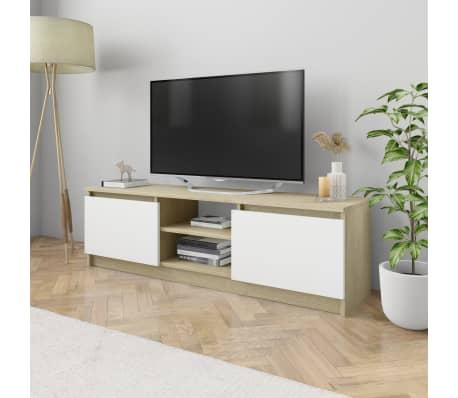 "vidaXL TV Cabinet Concrete Gray 47.2""x11.8""x13.9"" Chipboard[1/6]"