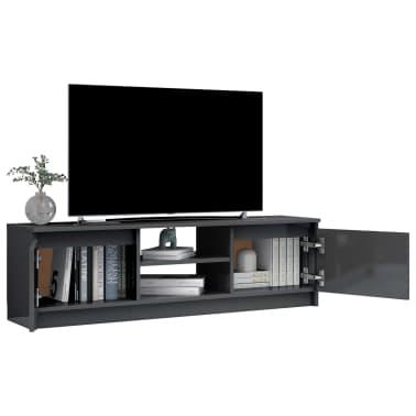 vidaXL Televizoriaus spintelė, pilka, 120x30x35,5cm, MDP, ypač blizgi[4/9]