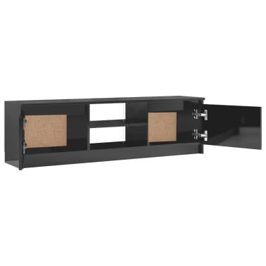 vidaXL Televizoriaus spintelė, pilka, 120x30x35,5cm, MDP, ypač blizgi[5/9]