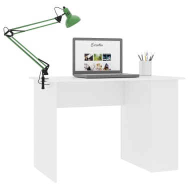 "vidaXL Desk White 43.3""x23.6""x28.7"" Chipboard[3/6]"