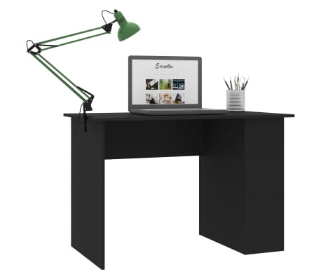 "vidaXL Desk Black 43.3""x23.6""x28.7"" Chipboard[3/6]"