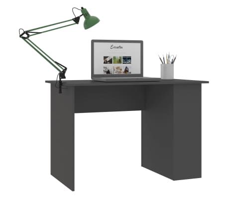 vidaXL Desk Grey 110x60x73 cm Chipboard[3/6]