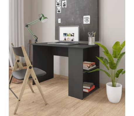 vidaXL Desk Grey 110x60x73 cm Chipboard[1/6]