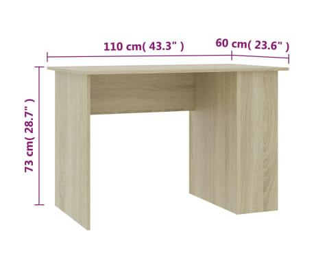 "vidaXL Desk Sonoma Oak 43.3""x23.6""x28.7"" Chipboard[6/6]"