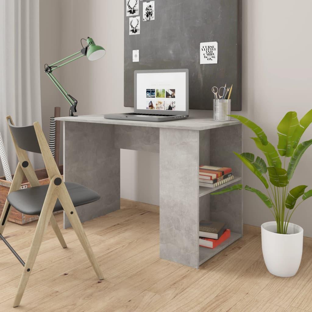 vidaXL Biurko, szarość betonu, 110x60x73 cm, płyta wiórowa