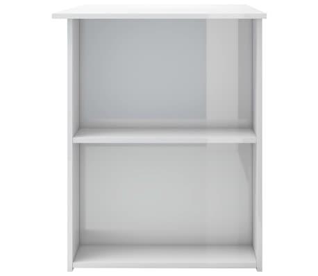 vidaXL Bureau Blanc brillant 110x60x73 cm Aggloméré[5/6]