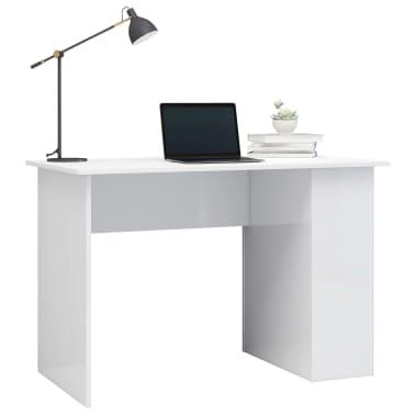 vidaXL Bureau Blanc brillant 110x60x73 cm Aggloméré[3/6]