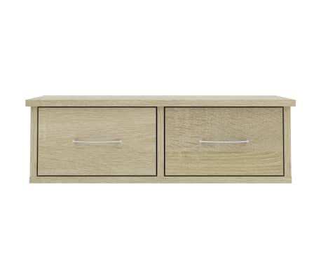 "vidaXL Wall-mounted Drawer Shelf Sonoma Oak 23.6""x10.2""x7.2"" Chipboard[4/7]"
