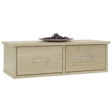 "vidaXL Wall-mounted Drawer Shelf Sonoma Oak 23.6""x10.2""x7.2"" Chipboard[3/7]"