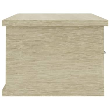 "vidaXL Wall-mounted Drawer Shelf Sonoma Oak 23.6""x10.2""x7.2"" Chipboard[5/7]"