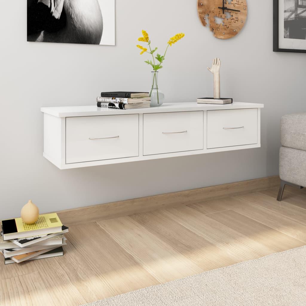 Seinasahtlid, kõrgläikega valge 90x26x18,5 cm p..
