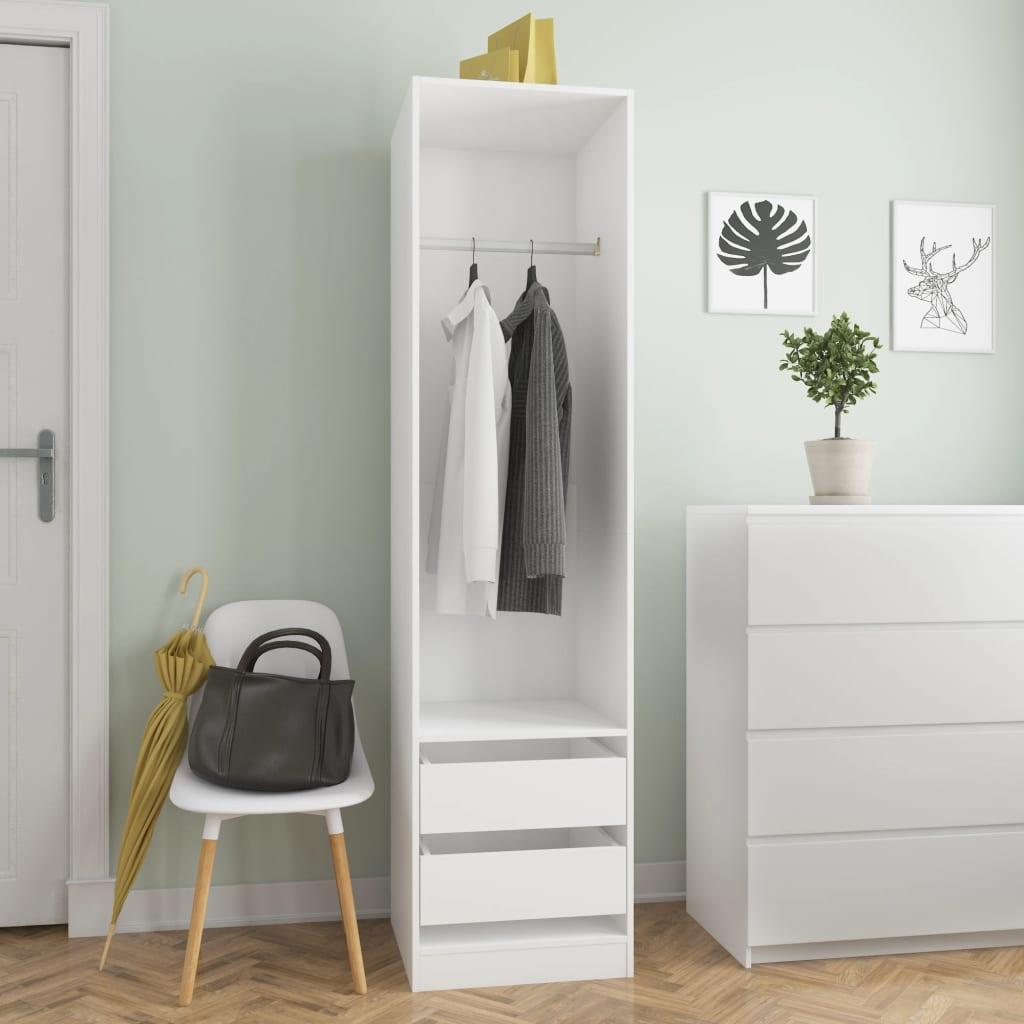 vidaXL Șifonier cu sertare, alb, 50 x 50 x 200 cm, PAL poza 2021 vidaXL