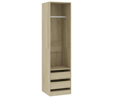 vidaXL Wardrobe with Drawers Sonoma Oak 50x50x200 cm Chipboard
