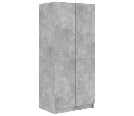 vidaXL Wardrobe Concrete Grey 80x52x180 cm Chipboard