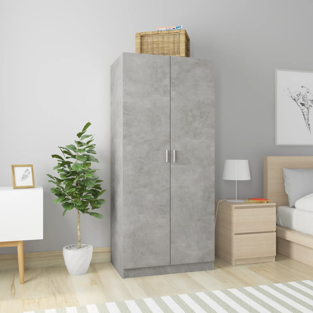 vidaXL Șifonier, gri beton, 80 x 52 x 180 cm, PAL poza 2021 vidaXL