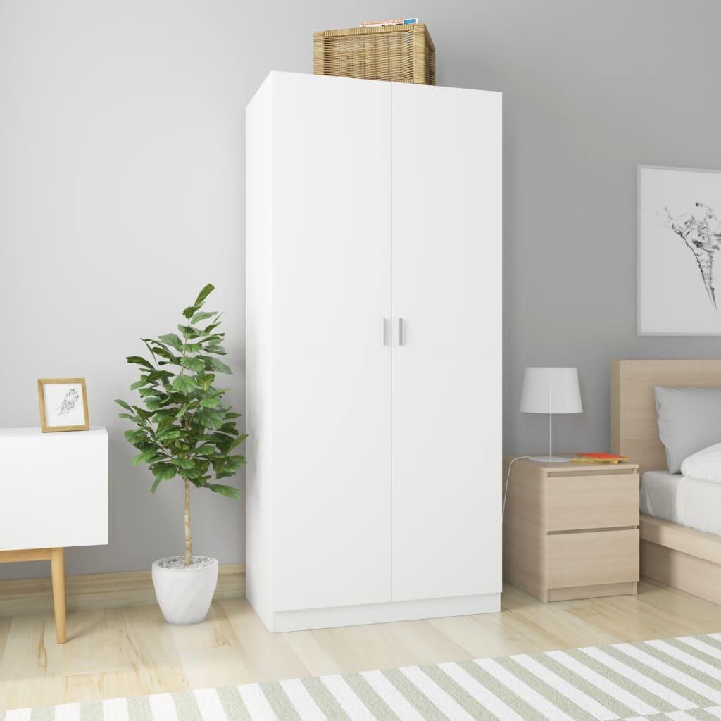 vidaXL Șifonier, alb, 90 x 52 x 200 cm, PAL poza 2021 vidaXL