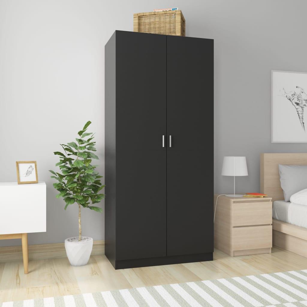 vidaXL Șifonier, negru, 90 x 52 x 200 cm, PAL poza 2021 vidaXL