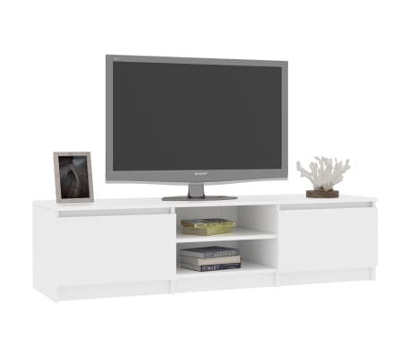 "vidaXL TV Cabinet White 55.1""x15.7""x13.9"" Chipboard[3/9]"