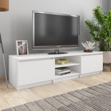"vidaXL TV Cabinet White 55.1""x15.7""x13.9"" Chipboard[1/9]"