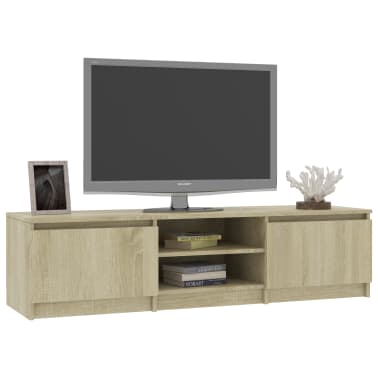 "vidaXL TV Cabinet Sonoma Oak 55.1""x15.7""x13.9"" Chipboard[3/6]"