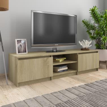 "vidaXL TV Cabinet Sonoma Oak 55.1""x15.7""x13.9"" Chipboard[1/6]"