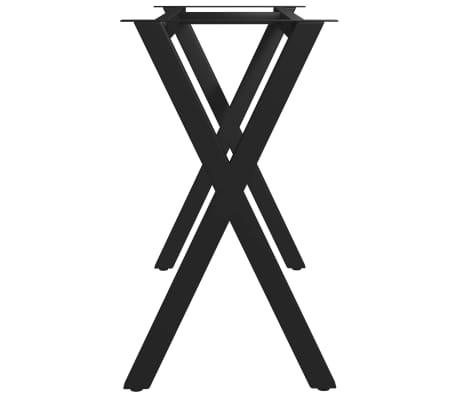vidaXL Pied en X de table de salle à manger 120x50x72 cm[3/6]