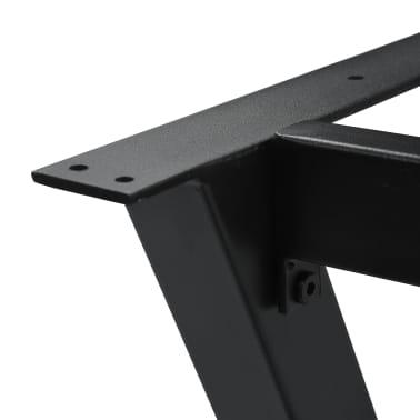 vidaXL Pied en X de table de salle à manger 120x50x72 cm[5/6]