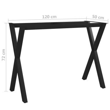 vidaXL Pied en X de table de salle à manger 120x50x72 cm[6/6]