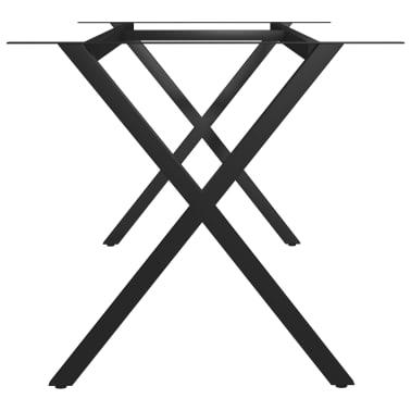 vidaXL Pied en X de table de salle à manger 200x80x72 cm[3/6]